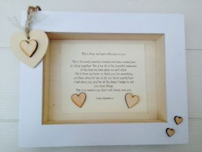 Shabby Personalised Chic Box Frame Special Husband Or Wife Gift Anniversary